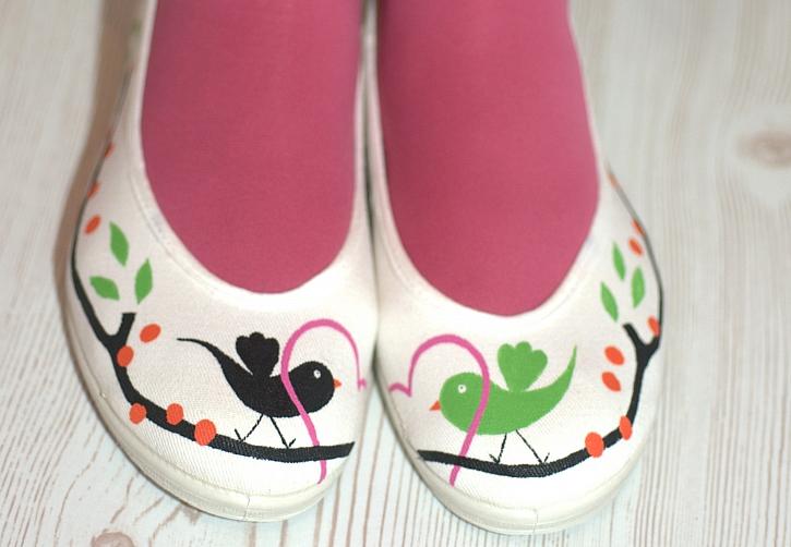 Jak vykouzlit pro holčičky malované balerínky s ptáčky 6