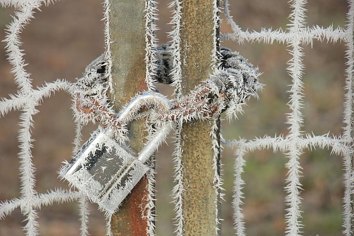 Ochrana visacího zámku před zamrznutím