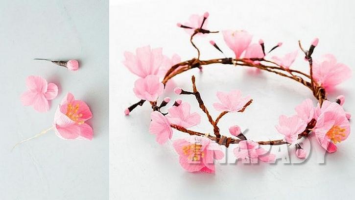 Z květů vytvořte věnec