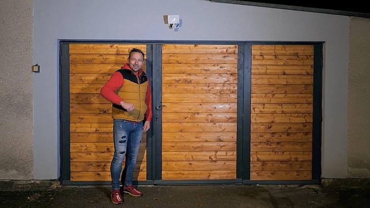Pepa renovuje stará garážová vrata