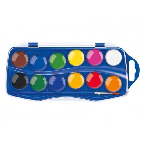MFP barvy vodové 12 barev 25 mm krabička