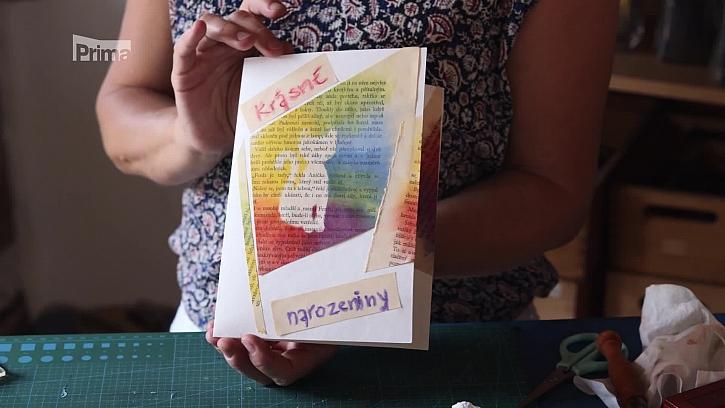 Výroba narozeninového přání pomocí suchého pastelu
