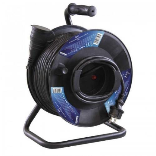 Kabel prodlužovací 50 m/230 V, cívka guma