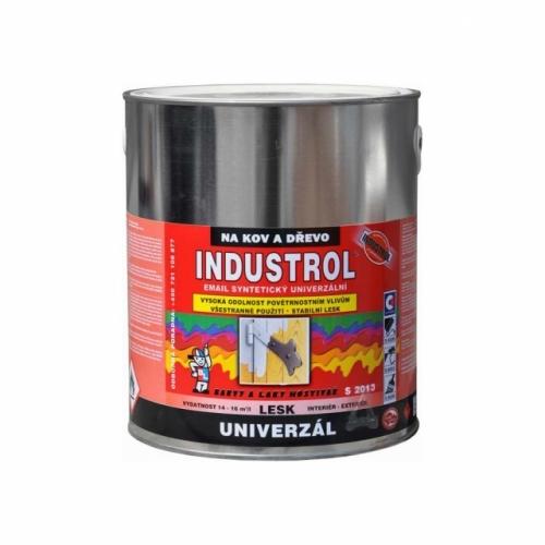 Industrol S2013 univerzál lesk vrchní barva na kov a dřevo, 1000 bílá, 2,5 l