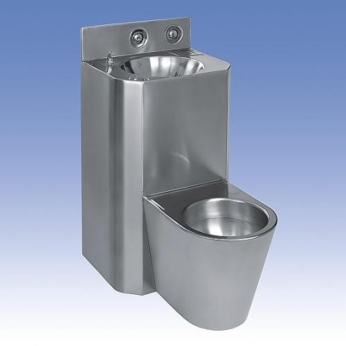 SANELA WC s umyvadlem rovný SLWN 28Z, WC závěsné, závitové tyče