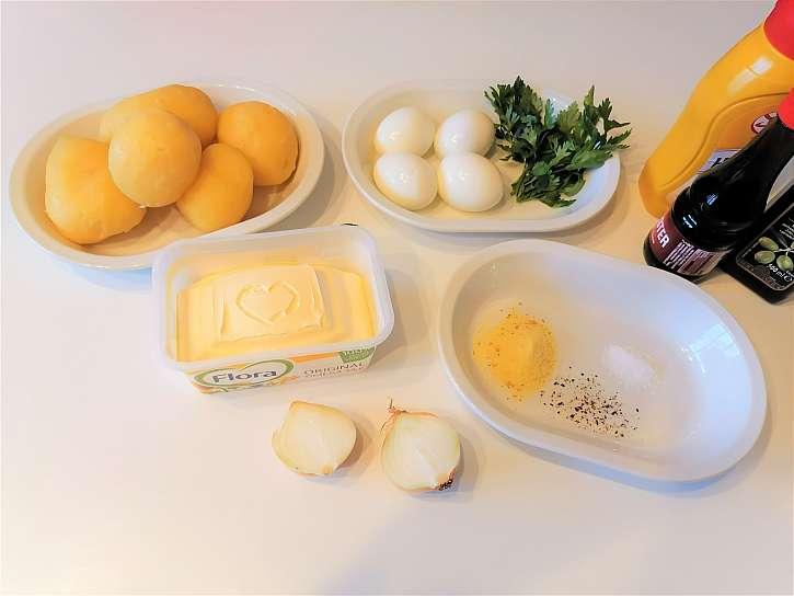 Suroviny pro přípravu bramborové pomazánky