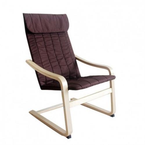 Relaxační křeslo, březové dřevo / hnědá látka, TORSTEN, Tempo Kondela