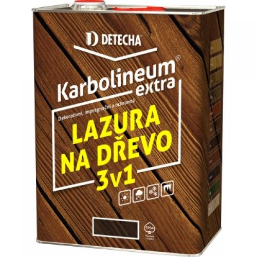 Detecha Karbolineum Extra 3v1 barva na dřevo, kaštan, 8 kg