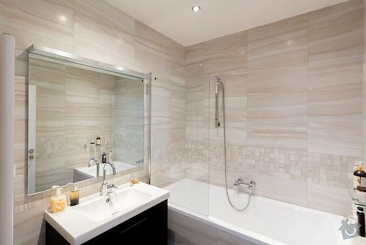 Koupelna po rekonstrukci - jednoduchá a moderní