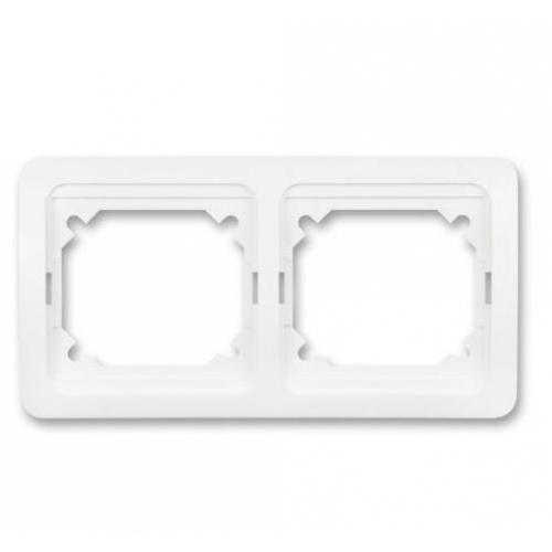 ELEKTROBOCK VENUS dvojnásobný vnější rámeček vodorovný, bílá