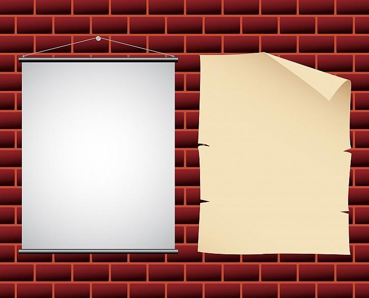 Přilepení na zeď je jedním ze způsobů, jak pověsit plakáty (Zdroj: Depositphotos)