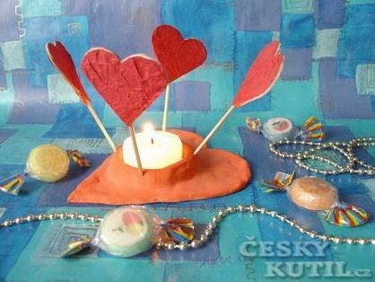 Valentýnský svícen
