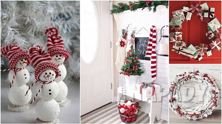 Vánoce podle tradice: předsíň vítá vánoční návštěvy