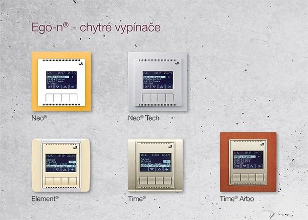 Ego-n - 5 designových řad, více jak 50 materiálových a barevných kombinací
