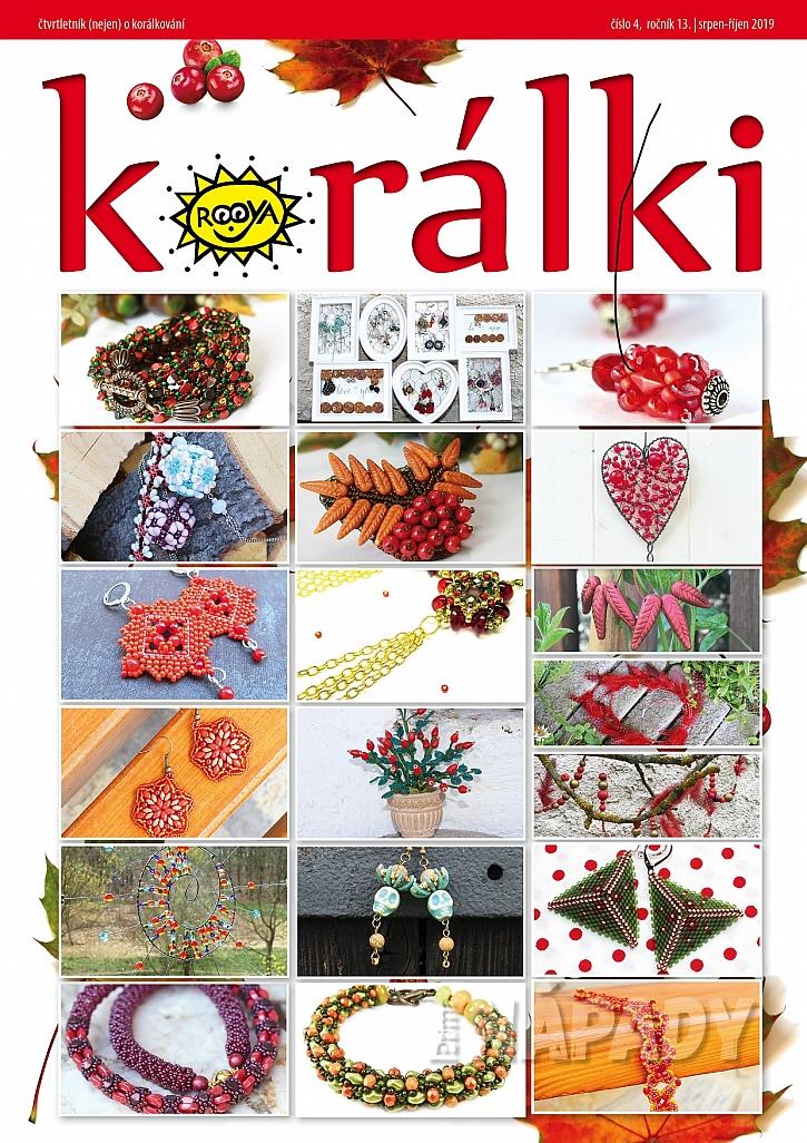 koláž projektů z podzimního čísla Časopisu Korálki