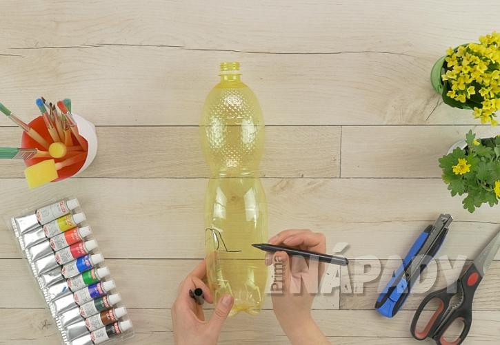 Jak vyrobit z PET lahve roztomilý květináč 1