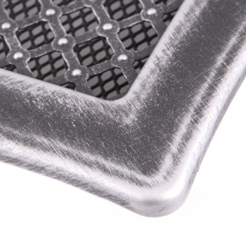 Krbová mřížka 10x20cm DECO stříbrná patina