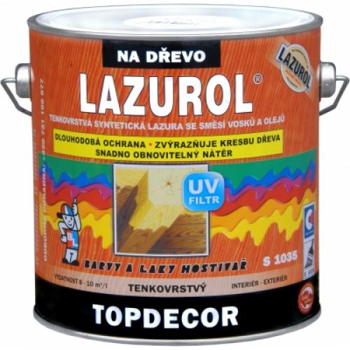Lazurol Topdecor S1035 tenkovrstvá lazura na dřevo T023 teak, 2,5 l
