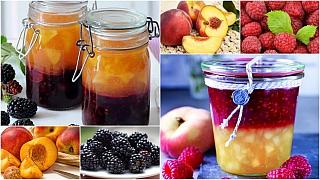 Domácí zavařování: Dva džemy v jedné sklenici