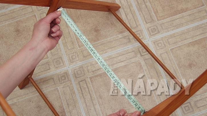 Skládací koš na prádlo:vyměříme rozměry na potah