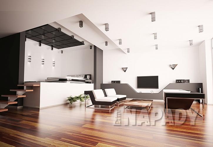 Stupínek v moderním obývaícm pokoji