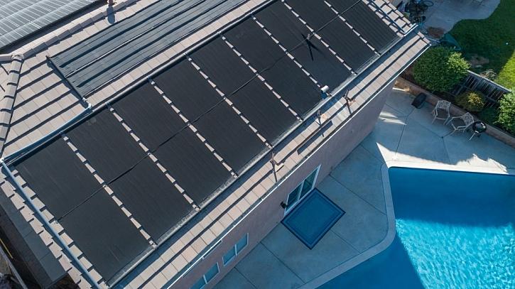 Ohřev vody solárním kolektorem