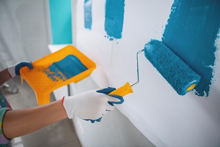 Výmalba interiéru - nářadí a pomůcky pro malíře