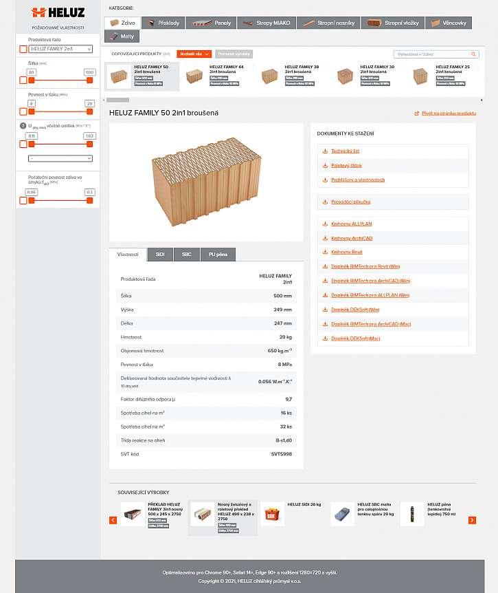 HELUZ Selektor konstrukci pro architekty a projektanty