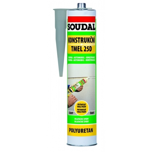 SOUDAL 25D konstrukční tmel 310 ml, šedá (polyuretanový)