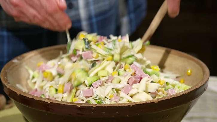 Promíchání salátu
