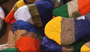 Vytvořte si jednoduché domino z obyčejných kamenů