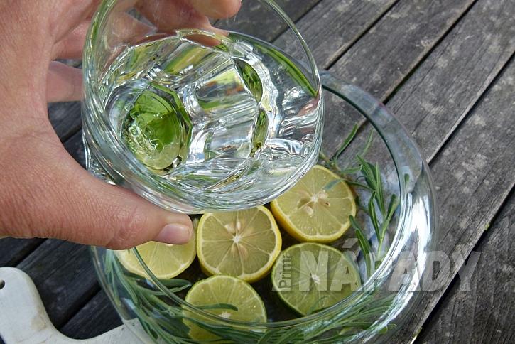 Dekorační miska s citrusy: zalijte vodou