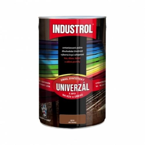 Industrol S2013 univerzál lesk vrchní barva na kov a dřevo, 2210 okr tmavý, 4 l