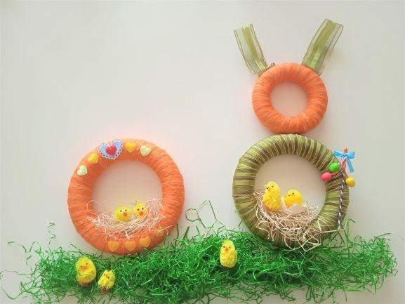 Jak vyrobit veselý velikonoční věnec ve tvaru zajíce