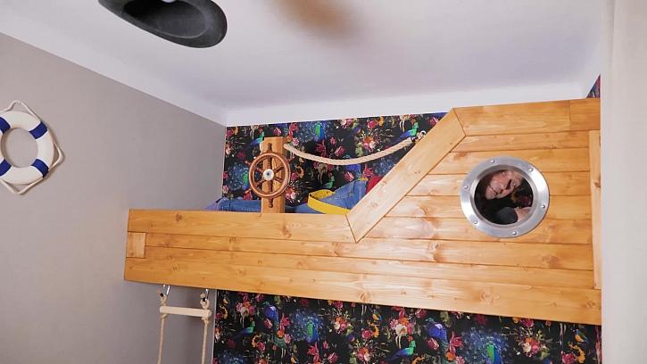 Vyrobte si s Pepou Libickým námořnickou postel