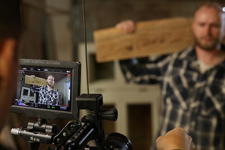 Oldřich při natáčení