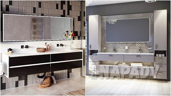 koupelnový nábytek sdvířky a obklady z materiálu FENIXX a GLAXX