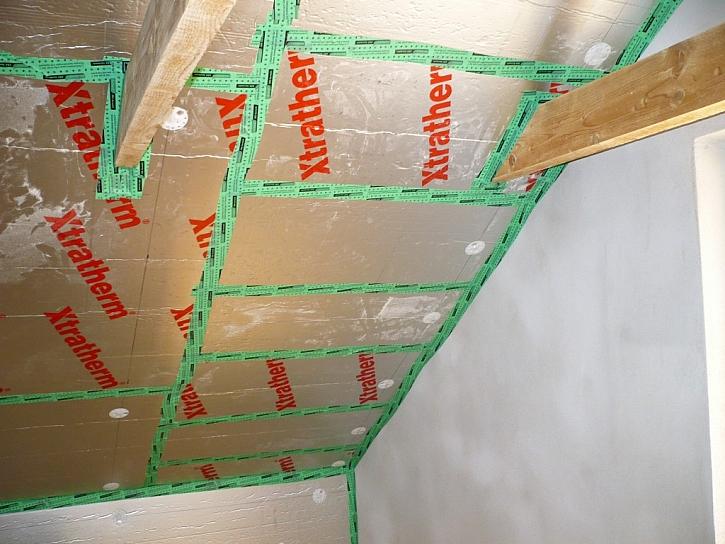 1. Zateplení stropu obytné části