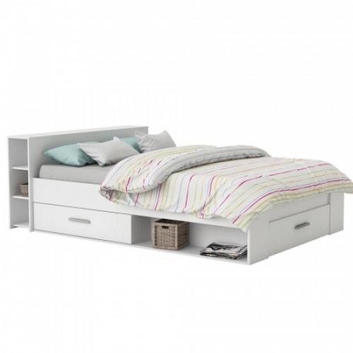 Multifunkční postel POCKET 140x200 159574 bílá, IDEA nábytek