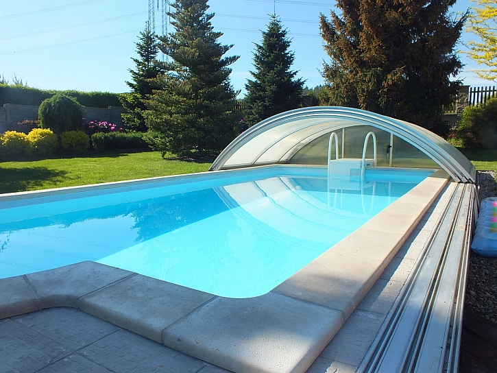 Ohřev bazénové vody pomocí fotovoltaiky (Zdroj: Prima DOMA)