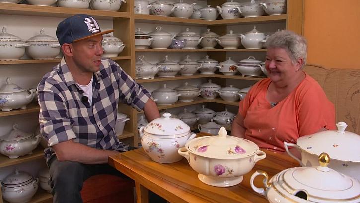 Unikátní sbírka polévkových mís i s cancourovou polévkou