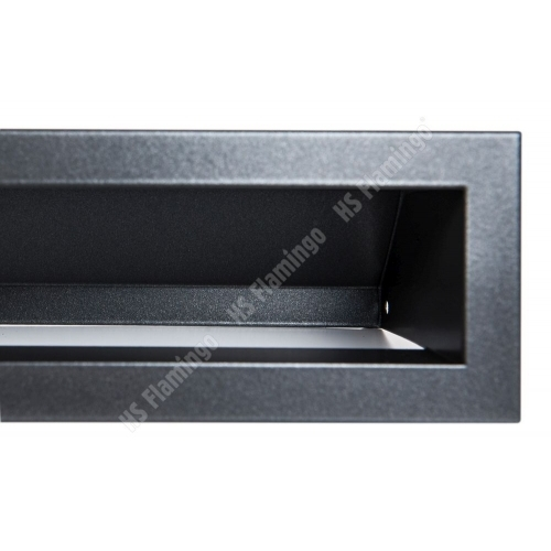 Krbová mřížka Otevřená 100x6cm černý mat