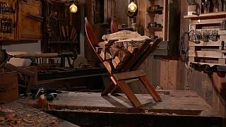 Vyrobte si praktický stojan na dřevo ze starých lyží