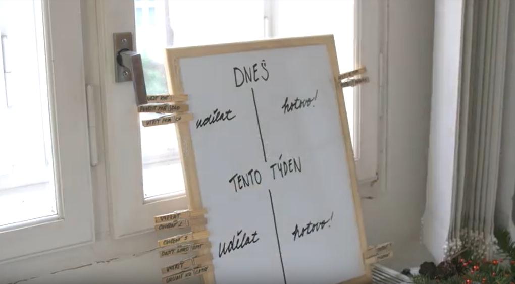 Šikovná tabule pro zapomnětlivé: Nástěnka napoví a připomene