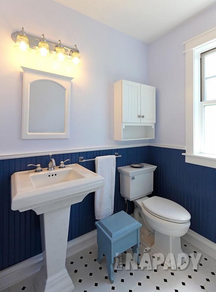 Koupelna v retro stylu s umyvadlem na noze