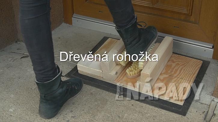 Dřevěná rohožka