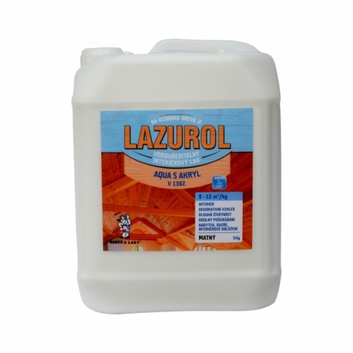 Lazurol Aqua S Akryl V1302 mat lak na dřevo 5 kg