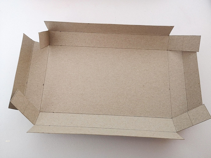 Rozložený vnitřek krabičky