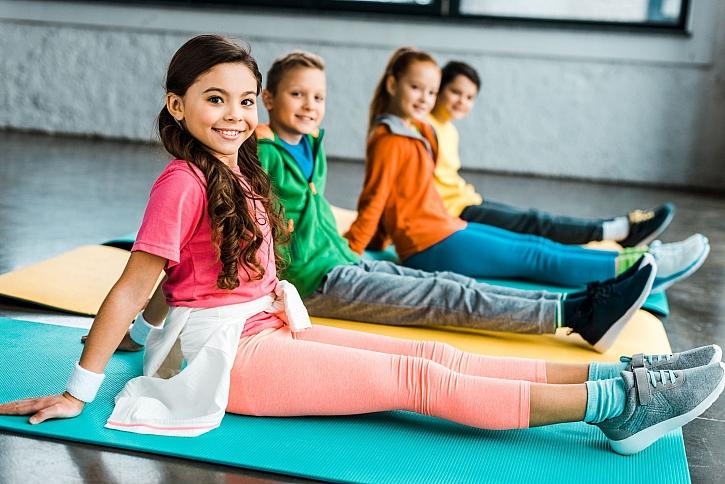 Děti na tělocviku