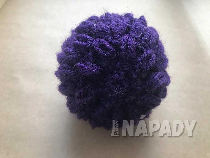 Háčkovaný ježek: zakončení tělíčka s bodlinami